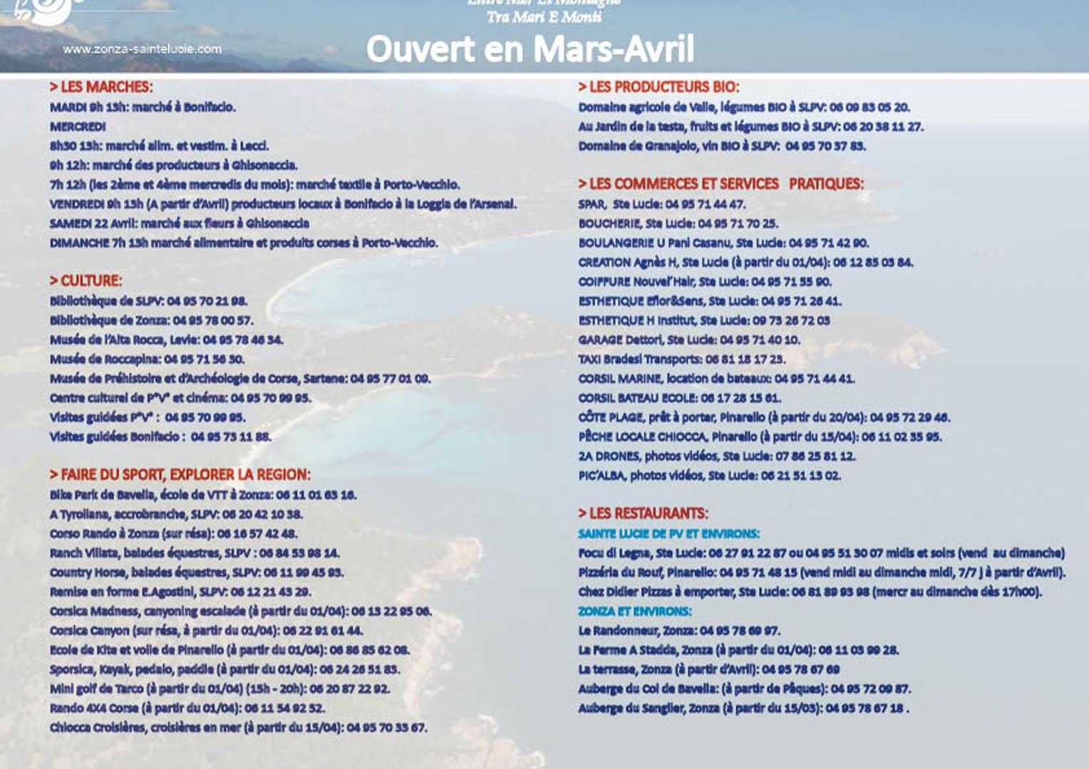 Affiche partenaires ouverts Mars Avril 2017