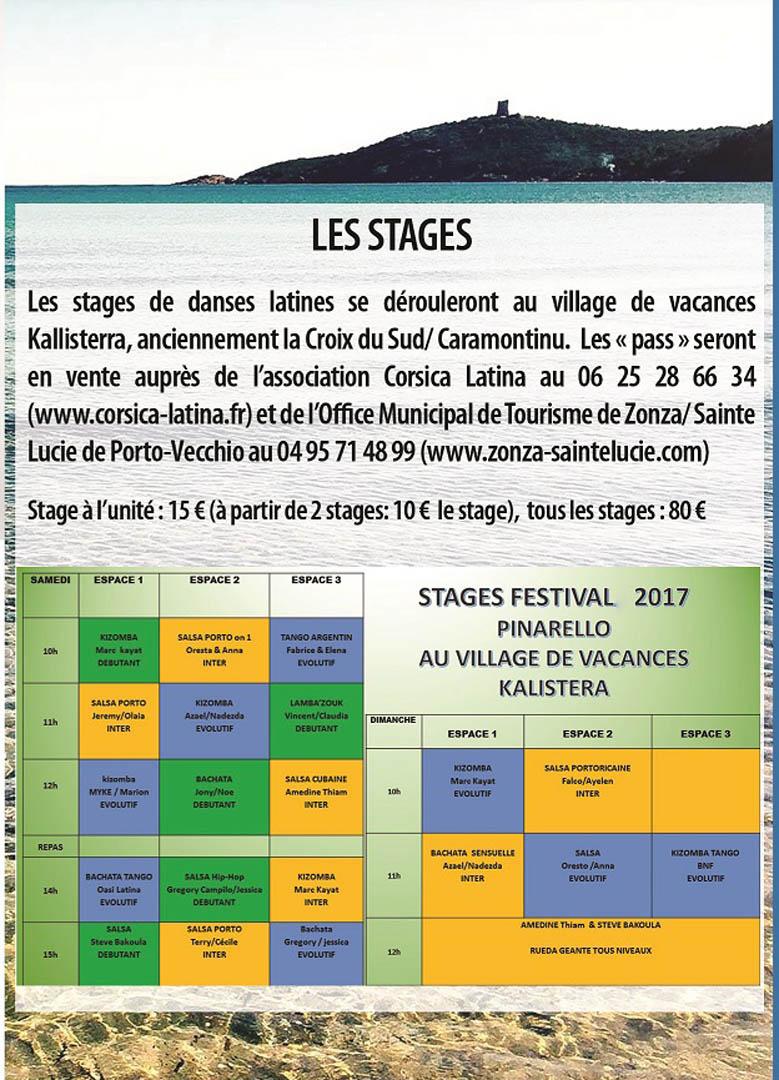 Programme des stages