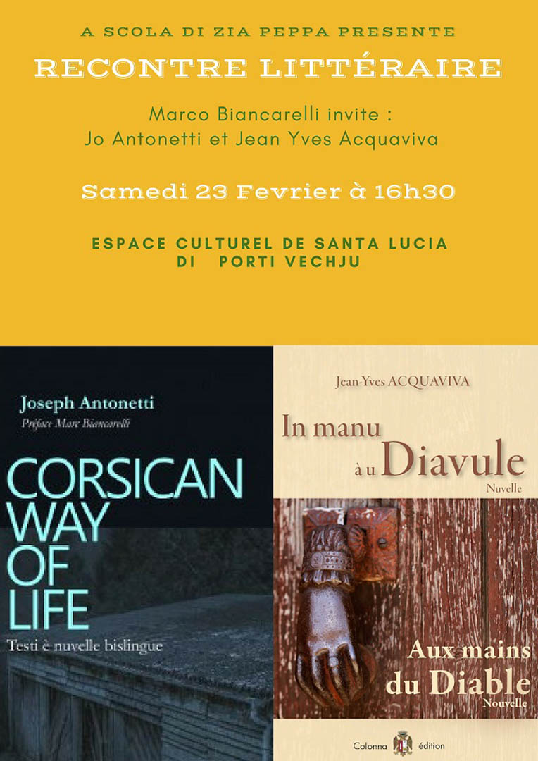 Rencontre litteraire Biancarelli Antonetti Acquaviva